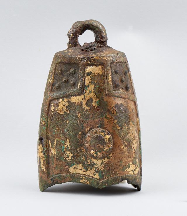 7세기 백제시대에 만들어져 익산 미륵사지에서 출토된 금동제 풍탁