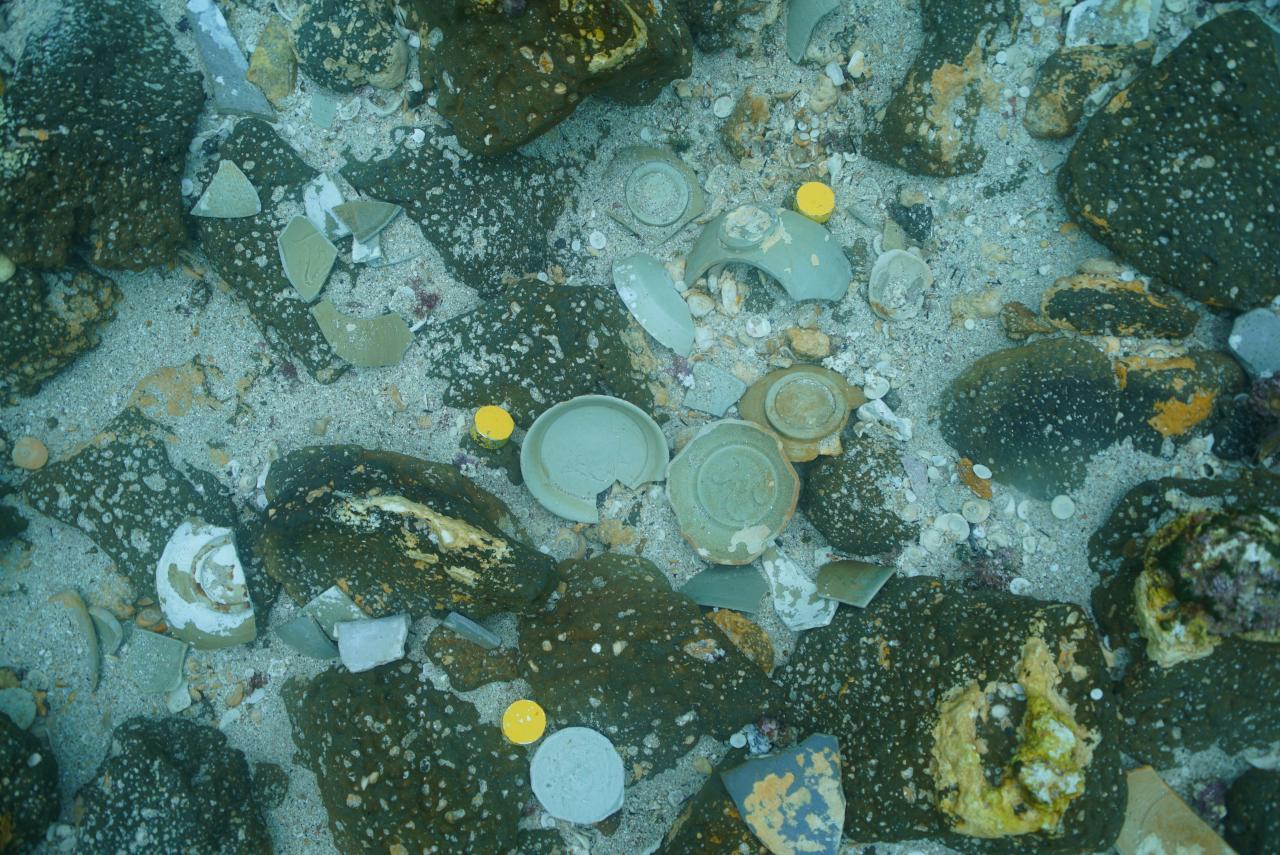 모래 제거 후 유물 노출 모습.JPG