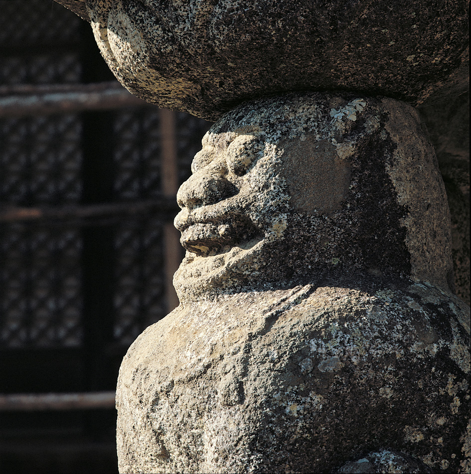 Lion Pagoda of Wontongjeon Hall in Hwaeomsa Temple