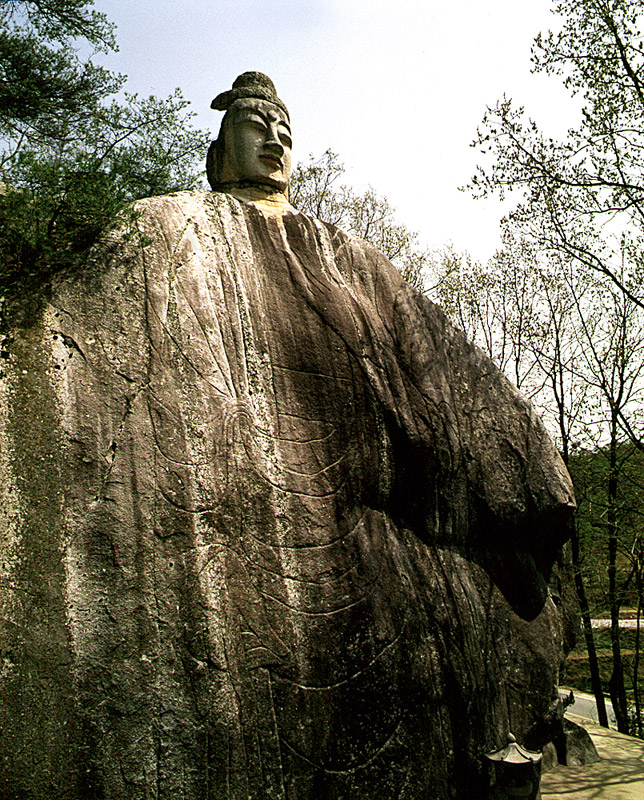 Stone Buddha Statue in Icheon-dong, Andong