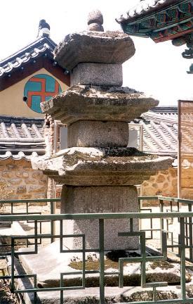 갑사중사자암지삼층석탑(뒷면)