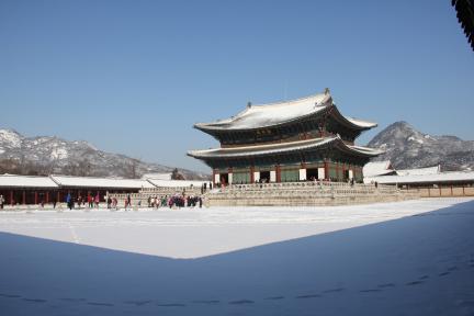 경복궁 근정전 설경(2012.2.1 촬영, 문화재청)