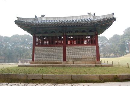 인릉 비각 배면(보수전)