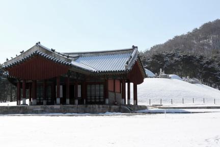 의릉의 겨울 / 2012년 겨울 의릉전경(저작권:문화재청)