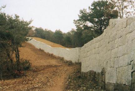 북문주변복원성벽