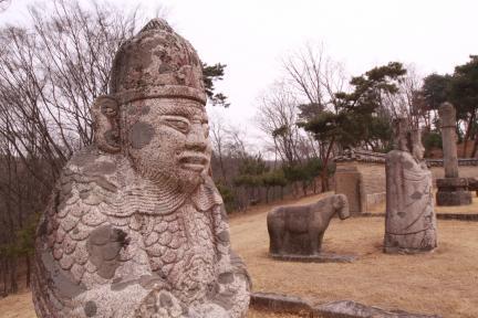 순릉 석인, 석수(2012.03.22.찰영, 파주삼릉관리소)