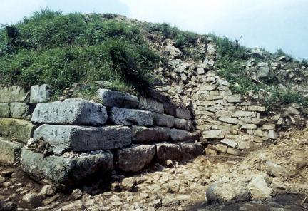 서치성남벽하부및성벽노출상태