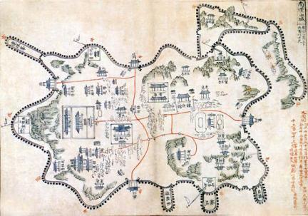 남한산성도, 영남대박물관 소장