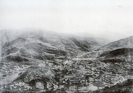 1909년 촬영된 남한산성 전경