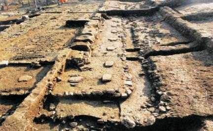 남한산성 행궁-하궐지 신라시대 건물유구
