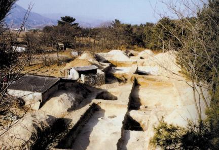 고성 문암리 유적 발굴 전경