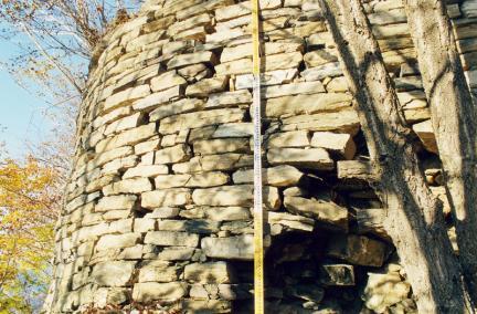 내성남문터동측회절부외부성벽