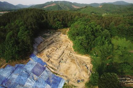 원주 법천사지-1구역 발굴조사 전경