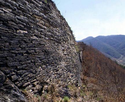 단양온달산성성벽