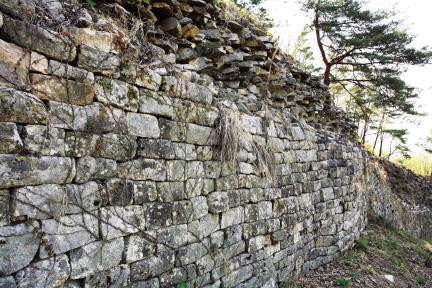 충주 장미산성 남쪽 성벽