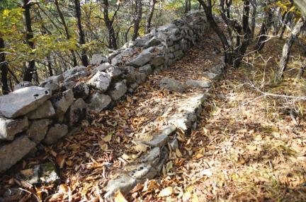 괴산 미륵산성 서쪽 성벽