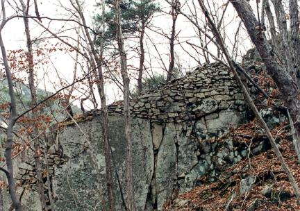 서쪽성벽남측구역망대부분성벽외벽면