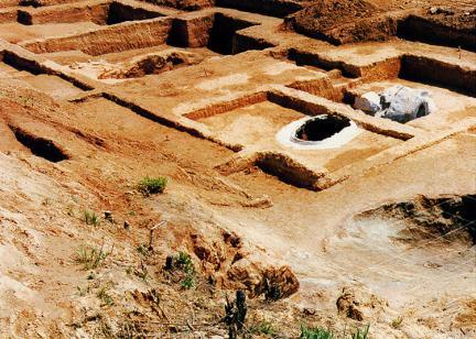 산수리 발굴작업모습(근경)
