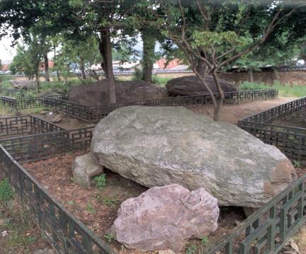 부안구암리지석묘군전경