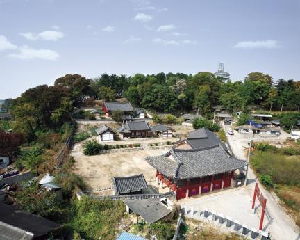 김제군 관아와 향교 전경