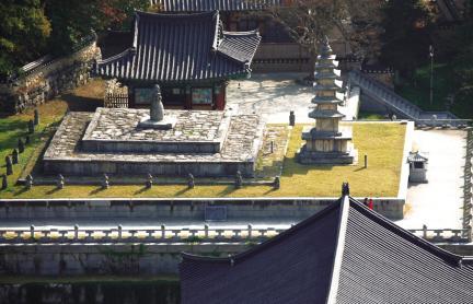 김제 금산사 일원-방등계단과 오층석탑