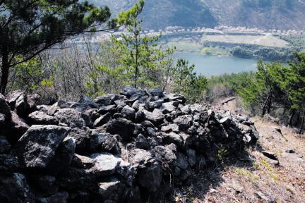 구례 석주관성 체성(성벽)부