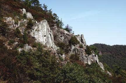 해남 윤선도 유적- 금쇄동으로 오르는 산의 경관