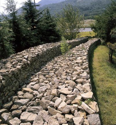 일부복원된성벽