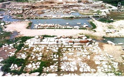 월정교발굴전경