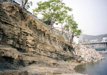 진주성남강쪽전경