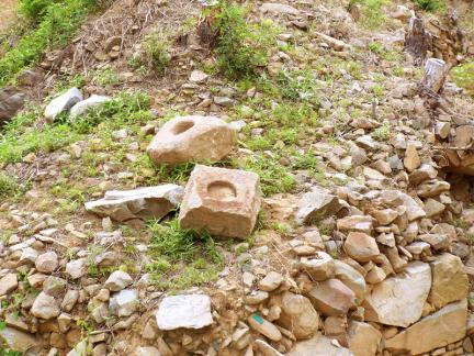 서문지문의받침돌