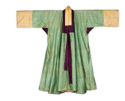 옥색 명주 장옷(앞)