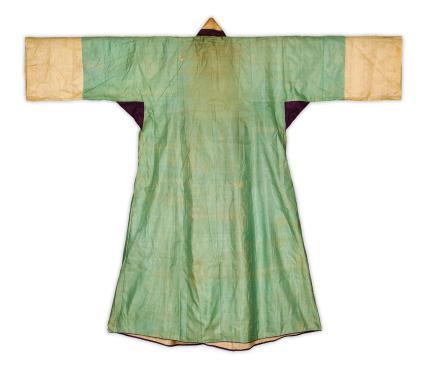 옥색 명주 장옷(뒤)