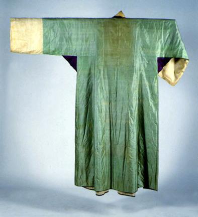 옥색명주장옷(후)