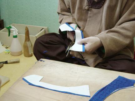 태사혜(太史鞋)제작과정―신울시접정리하기