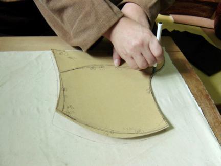 목화(木靴)제작과정―백비마름질