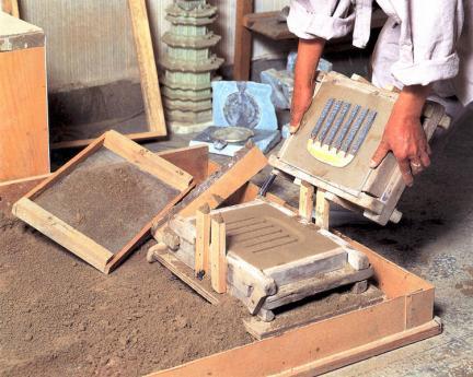 주물틀에갯벌흙 수틀만들기