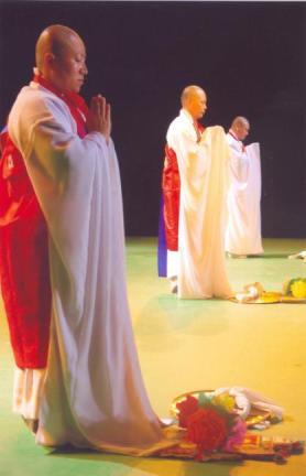 제주불교의식 공연모습3(43회 탐라문화재 중 무형문화재 공개행사)
