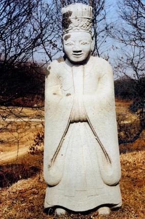 김시묵묘문인석