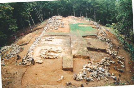 천림산봉수지 발굴조사 후 전경