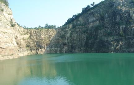 대부광산퇴적암층 전경