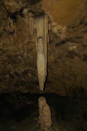 비룡굴 석순, 종유석