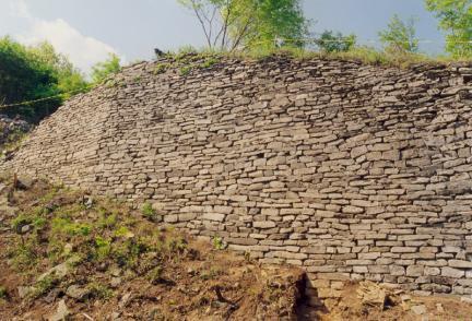 철원성산성서남쪽성벽