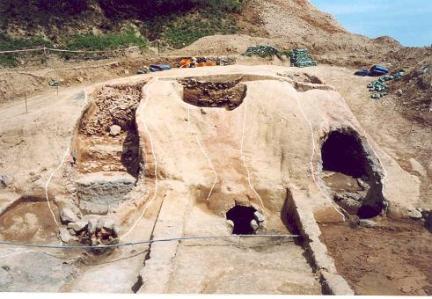 기와가마 발굴후 모습