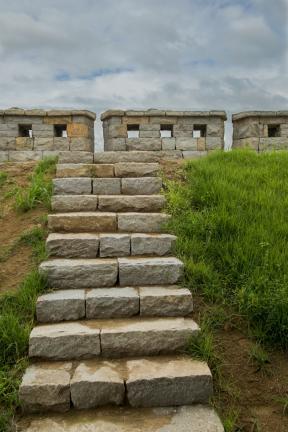 성곽 오르는 계단