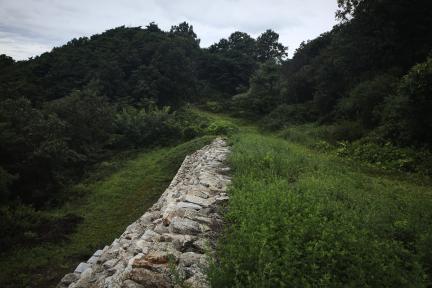 시도기념물 제138호_망이산성_성벽석축