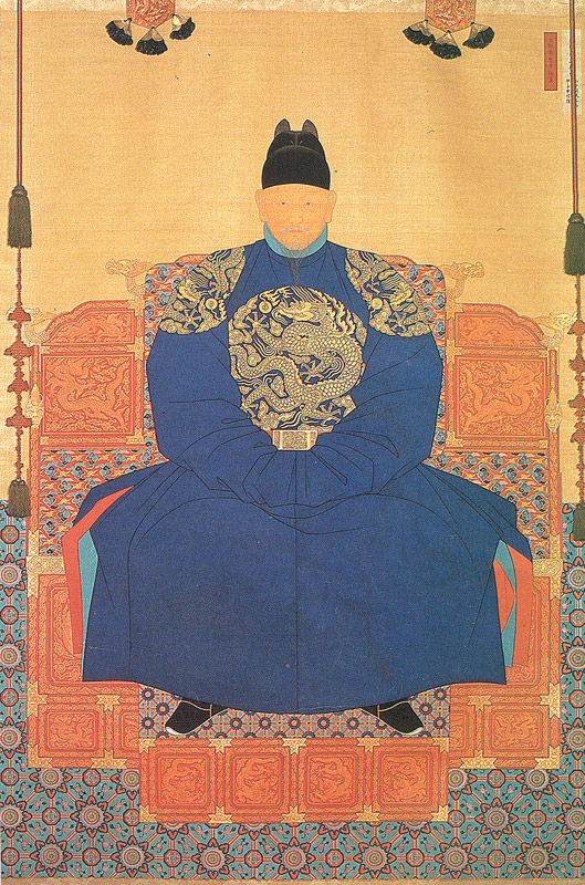 Statue of King Taejo in Joseon kingdom