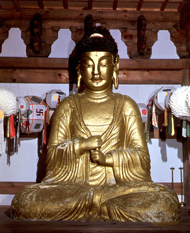 Seated Iron Vairocana Buddha Statue in Borimsa Temple
