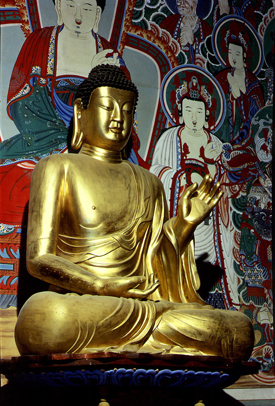 Seated Gilt-Bronze Amitabha Buddha Statue in Bulguksa Temple