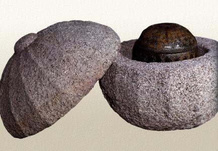 녹유골호와 석재외함